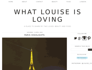 whatlouiseisloving.com screenshot