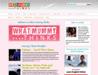 whatmummythinks.co.uk screenshot