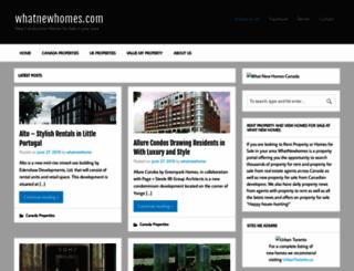 whatnewhomes.com screenshot