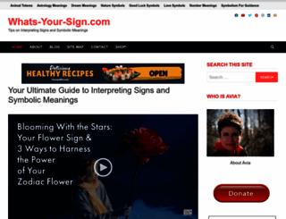 whats-your-sign.com screenshot
