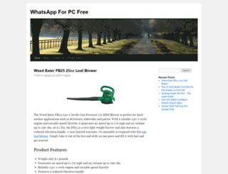 whatsappforpcfree.org screenshot