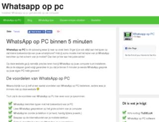 whatsappoppc.org screenshot