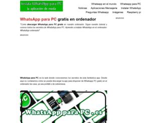 whatsappparapc.es screenshot