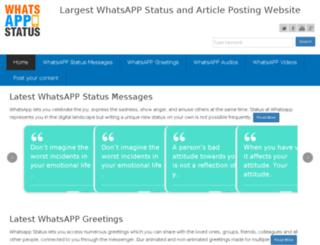whatsappstatus.com screenshot