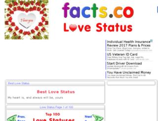 whatsappstatuslove.facts.co screenshot