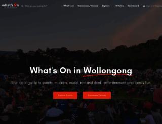 whatsoninwollongong.com.au screenshot