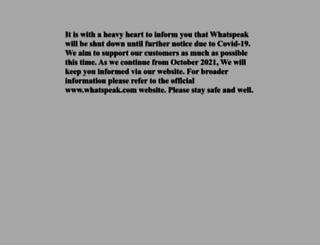 whatspeak.com screenshot
