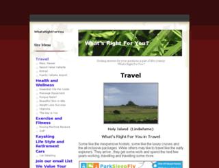 whatsrightforyou.com screenshot