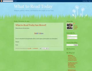 whattoreadtoday.blogspot.com screenshot