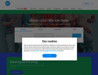 whatuni.com screenshot