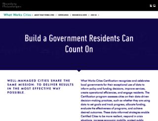 whatworkscities.bloomberg.org screenshot