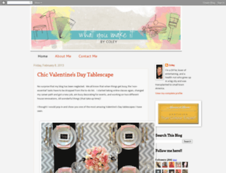 whatyoumakeit-coley.blogspot.com screenshot