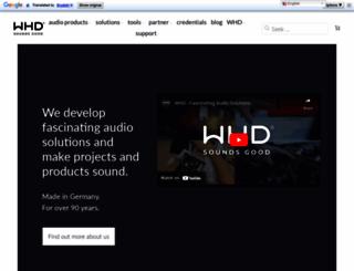 whd.de screenshot