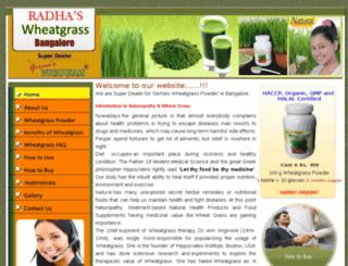 wheatgrass-bangalore.in screenshot