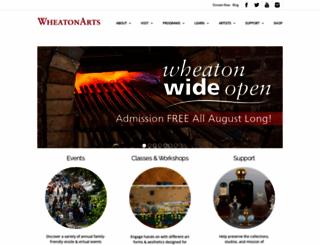 wheatonarts.org screenshot