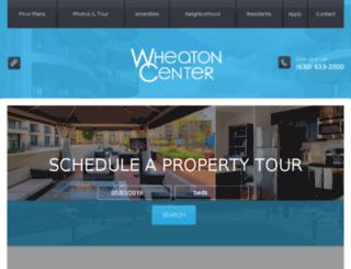 wheatoncenter.prospectportal.com screenshot