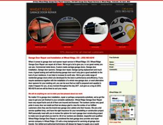 wheatridgegaragedoorrepair.biz screenshot