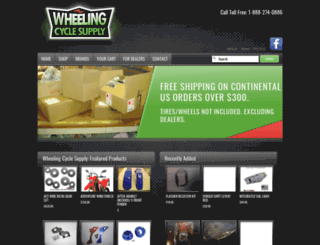 wheelingcyclesupply.com screenshot