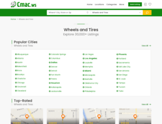wheels-and-tire-dealers.cmac.ws screenshot