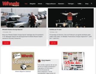 wheelsmagazine.se screenshot