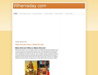 whenisday.com screenshot