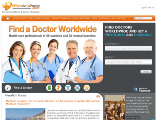 whereismydoctor.com screenshot