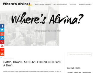 wheresalvina.com screenshot