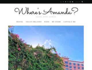 wheresamanda.com screenshot