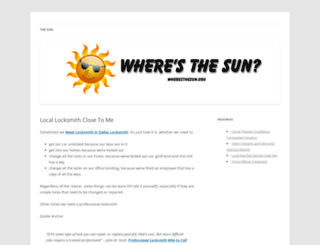 wheresthesun.org screenshot