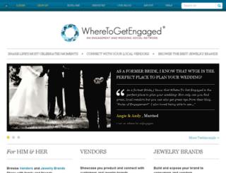 wheretogetengaged.com screenshot