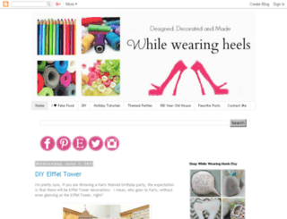 whilewearingheels.blogspot.com screenshot