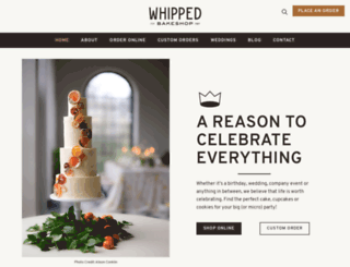 whippedbakeshop.com screenshot