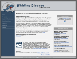 whirlingdisease.montana.edu screenshot