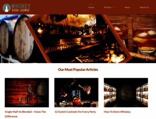 whiskeysodalounge.com screenshot