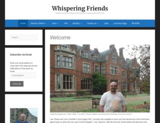 whisperingfriends.co.uk screenshot