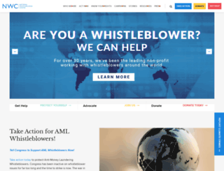 whistleblowers.org screenshot