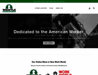 whistleworkwear.com screenshot