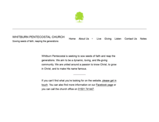 whitburnpentecostal.com screenshot