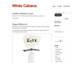 whitecabana.wordpress.com screenshot