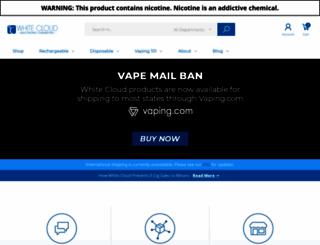 whitecloudcigs.com screenshot