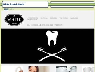 whitedentalstudio.mydentalvisit.com screenshot