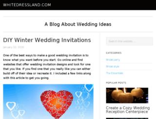 whitedressland.com screenshot