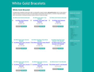 whitegoldbracelets.org.uk screenshot