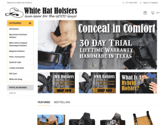 whitehatholsters.com screenshot