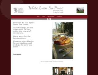 whitelinenteahouse.webs.com screenshot