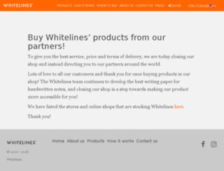 whitelinesshop.se screenshot