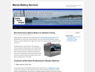 whitemarineservices.com screenshot