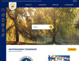 whitemarshtwp.org screenshot