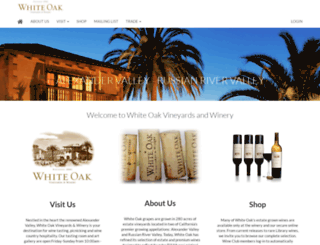 whiteoakwinery.com screenshot
