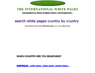 whitepages.co.com screenshot